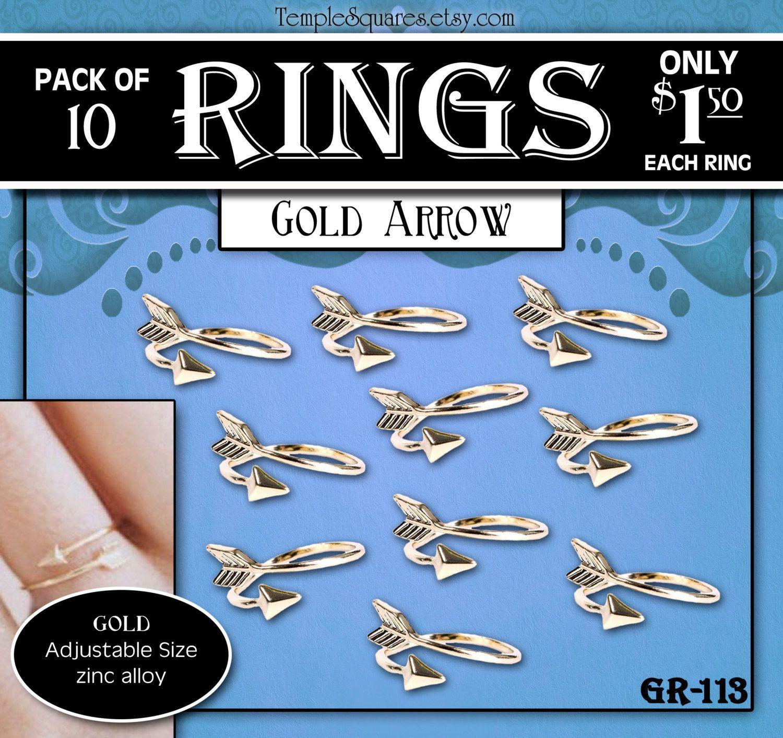 Arrow Rings Pack of 10 rings only 1.50 each