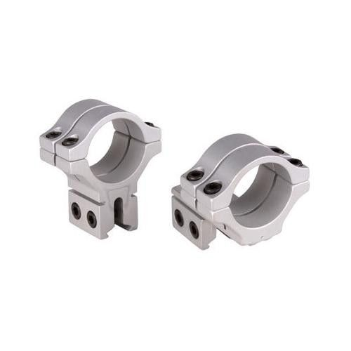 """BKL 30mm Rings, 3/8"""" or 11mm Dovetail, Double Strap, Offset, Silver"""