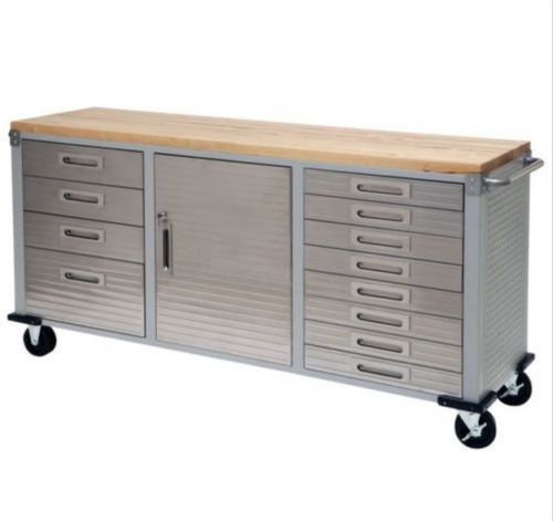 Storage Tool Box Garage Workbench Mechanic Cabinet Rolling Steel Lockable Boxes Rolling Workbench Wood Storage Cabinets Workbench With Drawers