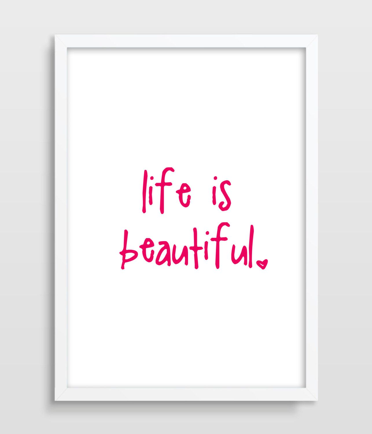 Typographic Print, Life Is Beautiful, Inspirational Quote, Motivational Quote Print, Typography Print, Valentine's Gift. by TheWatermelonFactory on Etsy https://www.etsy.com/listing/182517183/typographic-print-life-is-beautiful