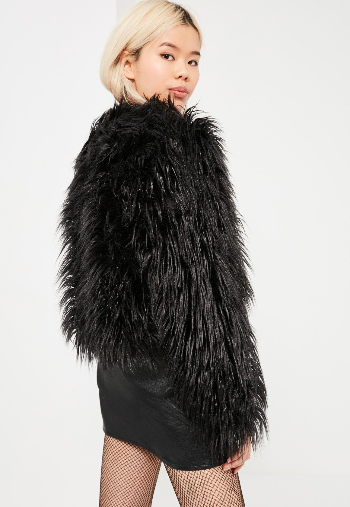 ace0b6e7c50dd Black Mongolian Faux Fur Coat - Missguided | Fashion | Pinterest ...