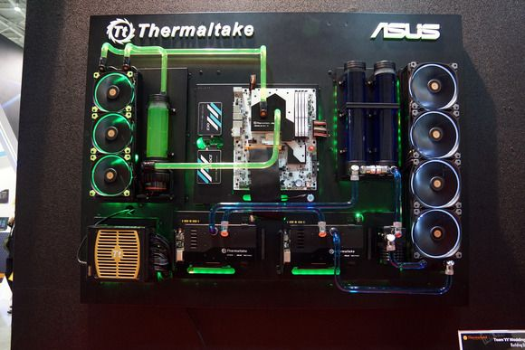 17 Of The Most Insane Pc Mods And Cases Of 2015 Wall Mounted Pc Computer Tower Custom Pc