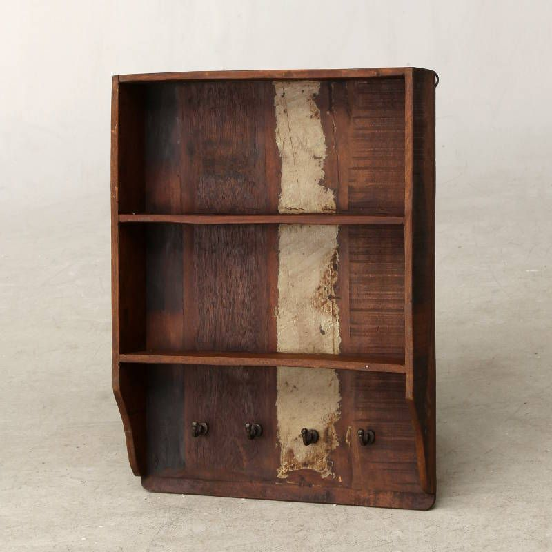 Best A Wooden Wall Cabinet With Two Internal Shelves Reclaimed 640 x 480