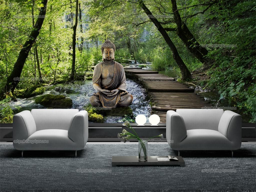 Wall murals zen spa canvas prints posters zen garden for Poster mural xxl fleurs