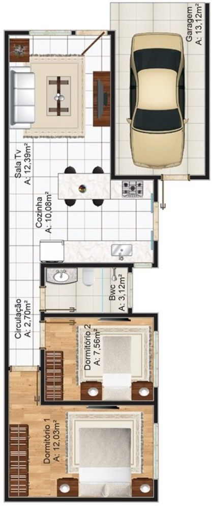Plano de casa de 70 metros cuadrados planos planos de for Decoracion de casas de 30 metros cuadrados