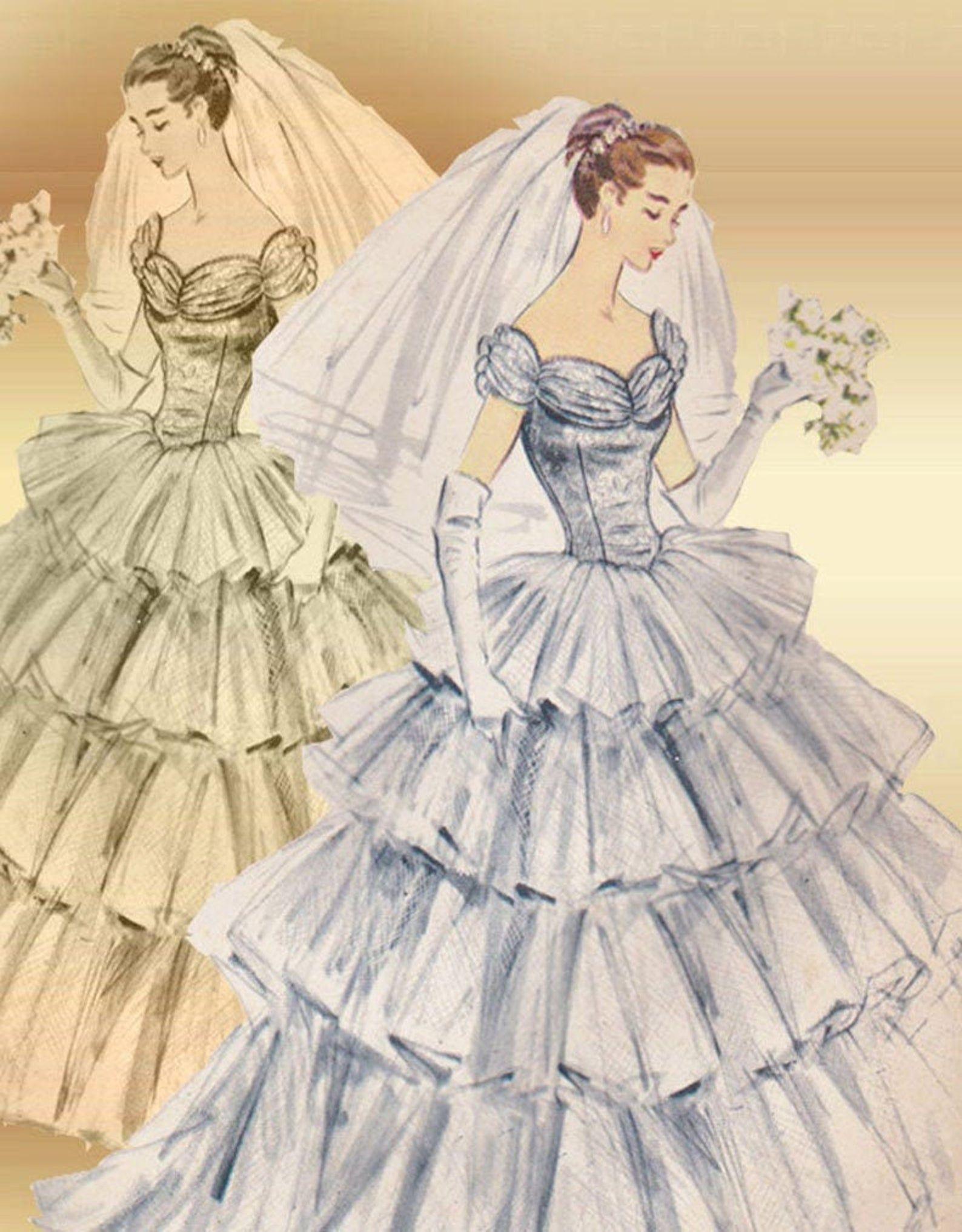 38++ Wedding dress skirt pattern information
