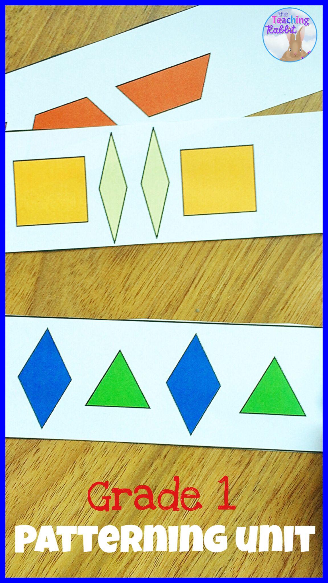 Patterning Unit For Grade 1 Ontario Curriculum