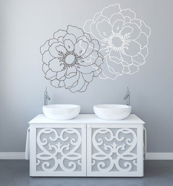 modern flower wall decals for walls stickers for walls stylish wall