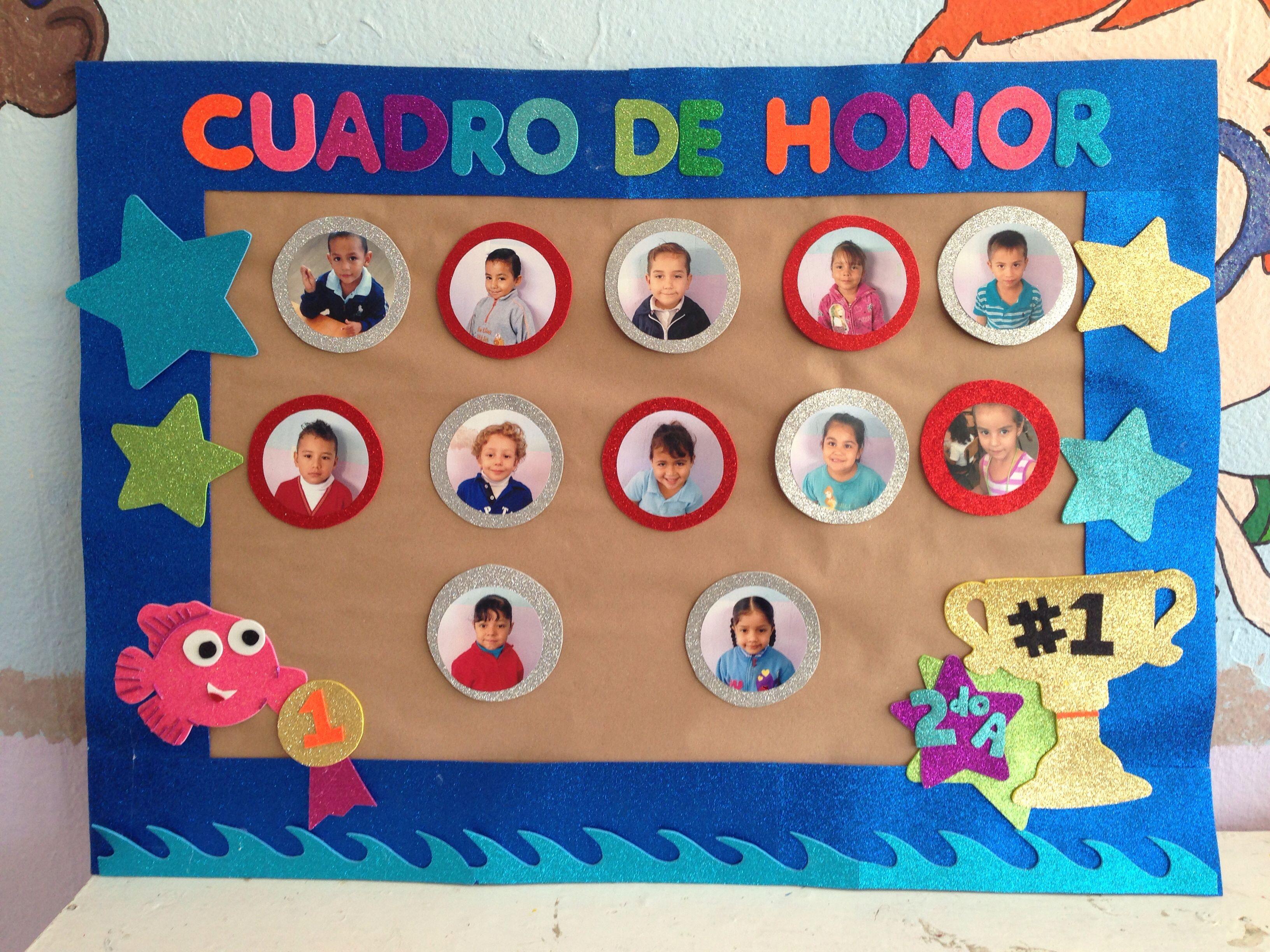 Cuadro de honor escuela pinterest for Murales faciles y creativos