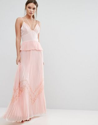 50acab0ebb2 True Decadence Pleated Strappy Maxi Dress