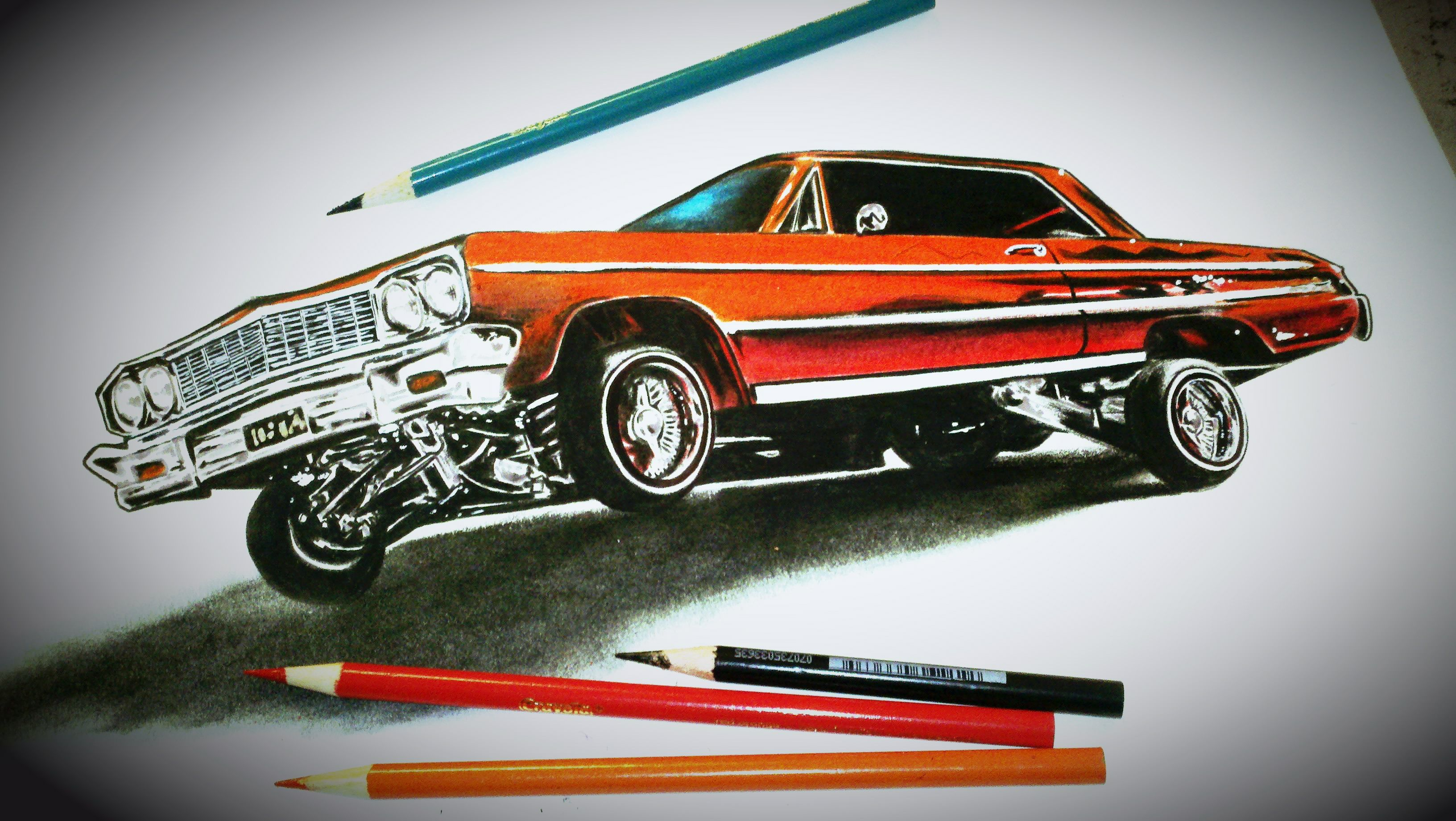 Cool Drawing Lowriders Custom Cars Gangster Lowrider Cars
