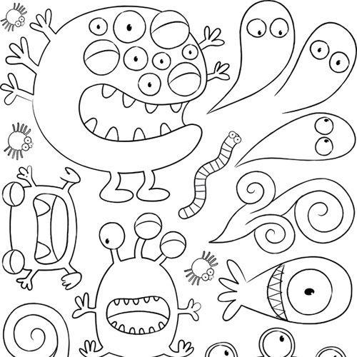 Monsters | monstres | Pinterest | Colorear, Dibujo y Plástica