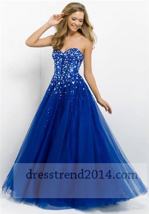 Beaded Top Indigo Corset Ball Gown Prom Dress | dress ideas ...