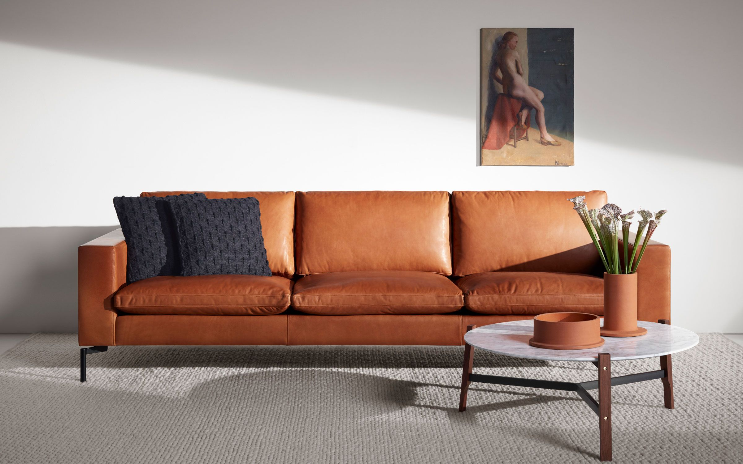 New Standard 92 Leather Sofa With