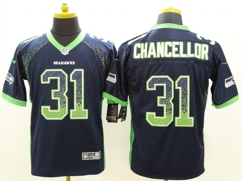 Seattle Seahawks 31 Chancellor Drift Fashion Blue Nike Elite Jerseys ... 47dce37cc