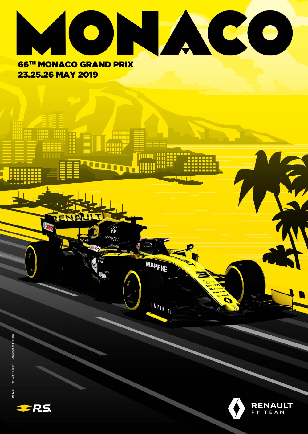 Renault S Poster For The Monaco Grand Prix Formula1 In 2020 Monaco Grand Prix Grand Prix Posters Monaco Grand Prix Posters