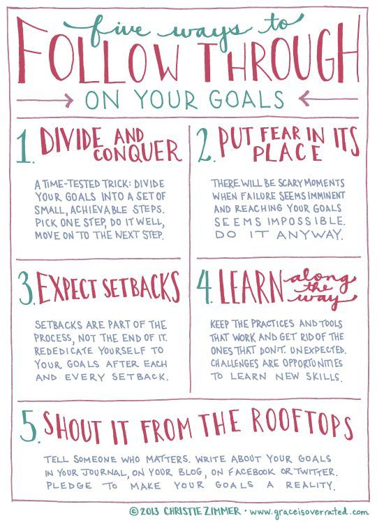 Nice Grace Is Overrated: 5 Ways To Follow Through On Your Goals