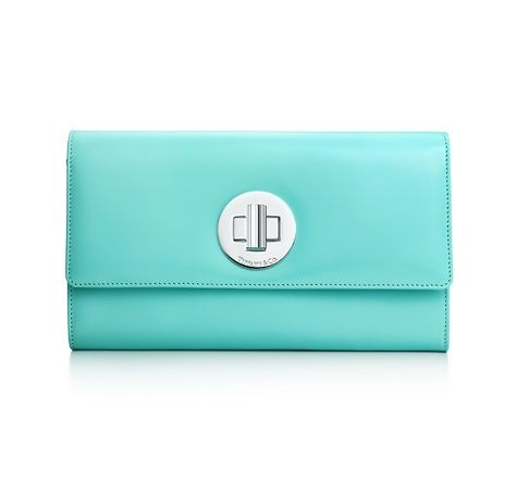 Tiffany & Co. | Item | City clutch in Tiffany Blue® smooth calf, small. More colors available. | United States