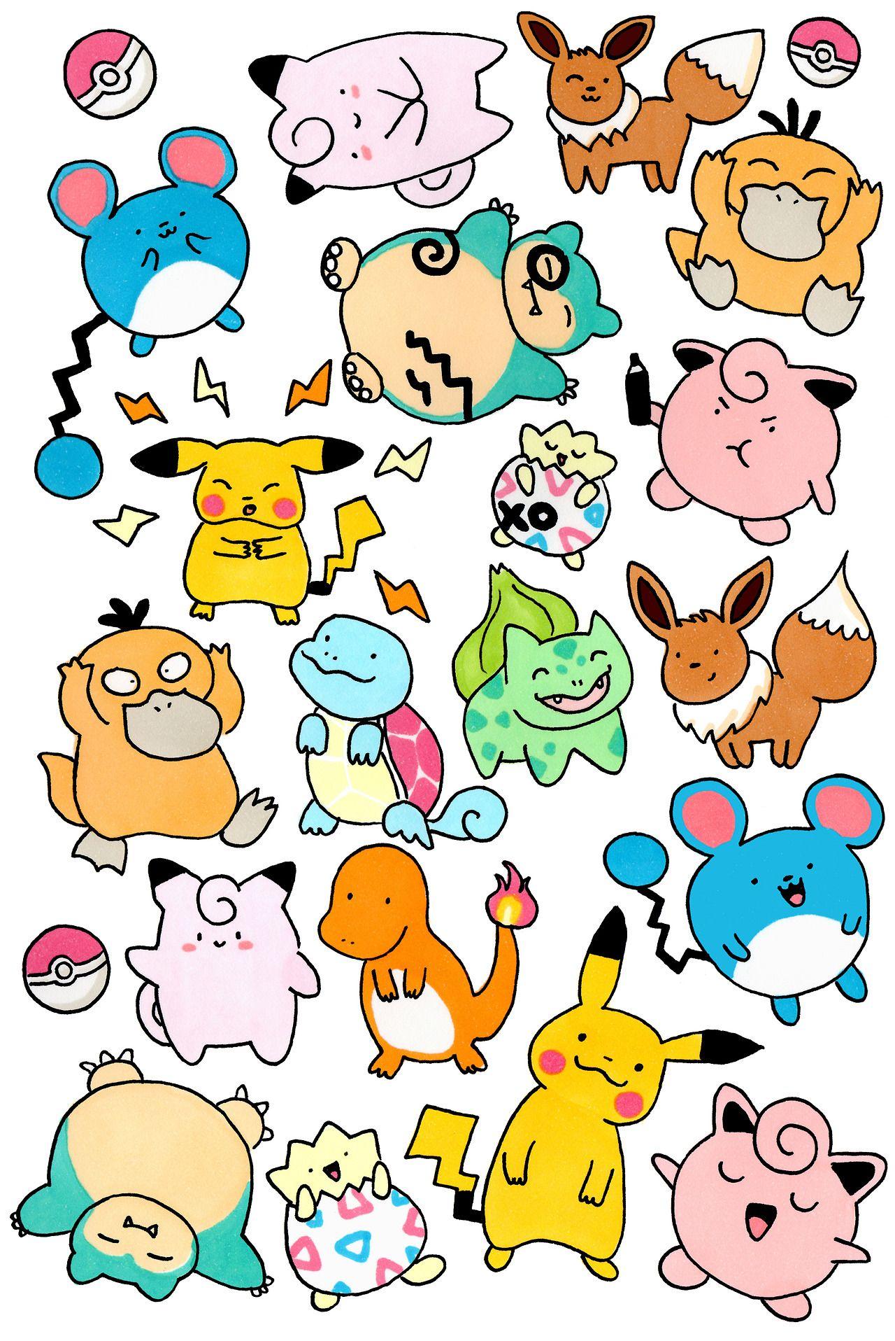 Pokemon Doodles 3 手描きのイラスト イラスト 手書き かわいい イラスト 手書き