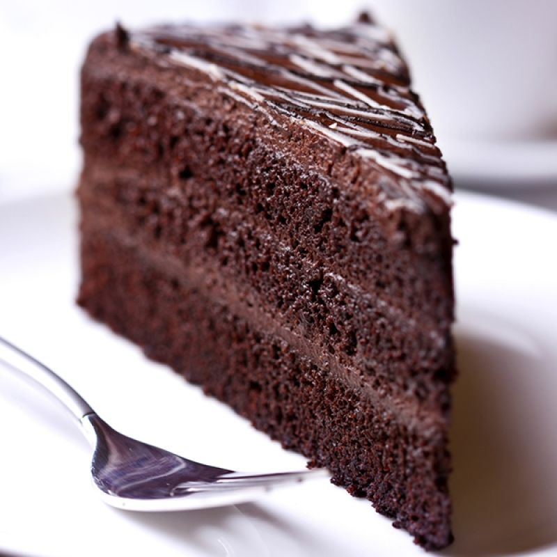 This sour cream chocolate cake is 3 layers of heavenly cake with a creamy chocolate frosting.. Sour Cream Chocolate Cake Recipe from Grandmothers Kitchen. #sourcream