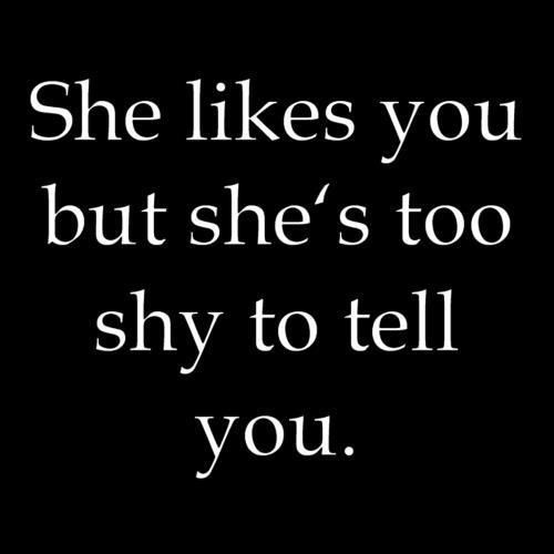 Signs She Likes You But Shy