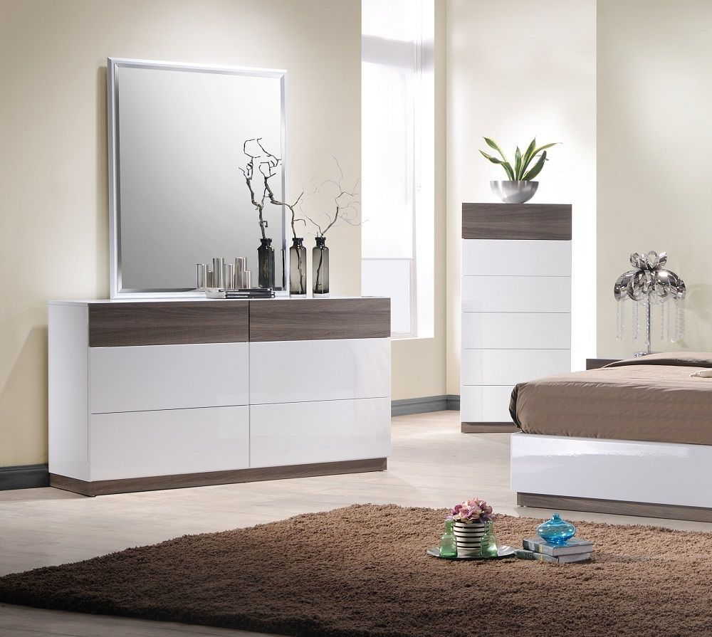 white and walnut bedroom Google Search King size