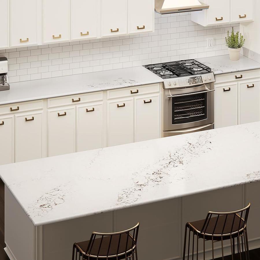 Allen Roth Brinicle Quartz Kitchen Countertop Sample Lowes Com In 2020 Kitchen Countertop Samples Quartz Kitchen Kitchen Countertops