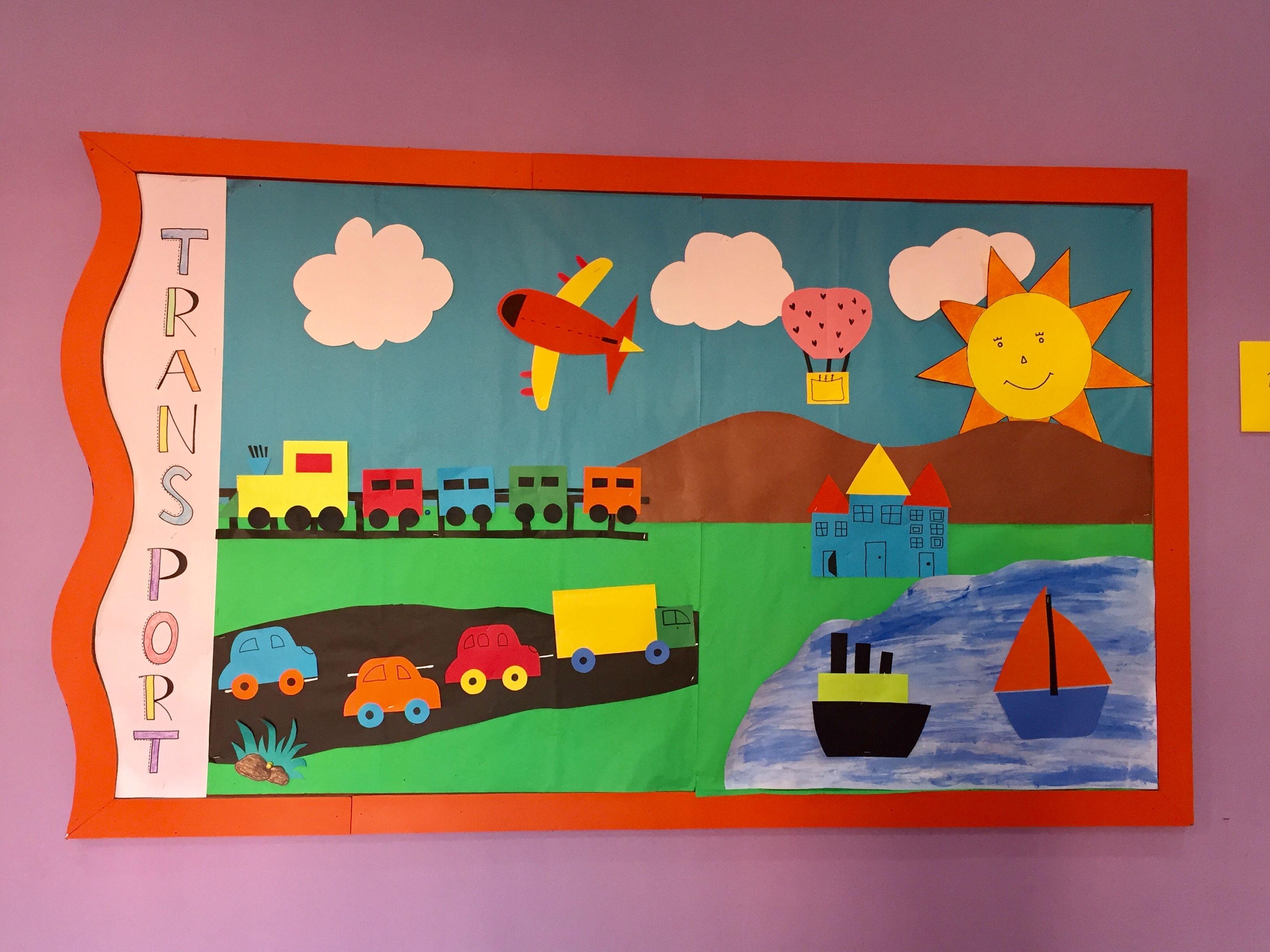 Transport kindergarten bulletin board
