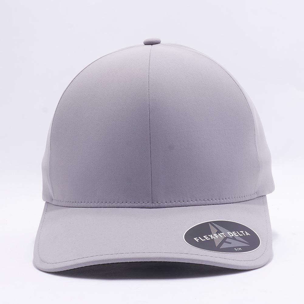 Flexfit/Yupoong 180 Flexfit Delta Hat Wholesale [Silver