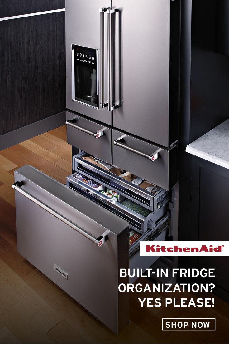 Make Storage And Organization A Priority In Your Kitchen Kitchenaid S Multi Door Freestanding Refrigera In 2020 Luxury Kitchen Design Home Decor Kitchen Home Kitchens