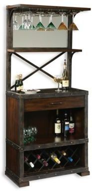 Howard Miller Red Mountain Wine Bar Cabinet In Rustic Hardwood Affiliate Link