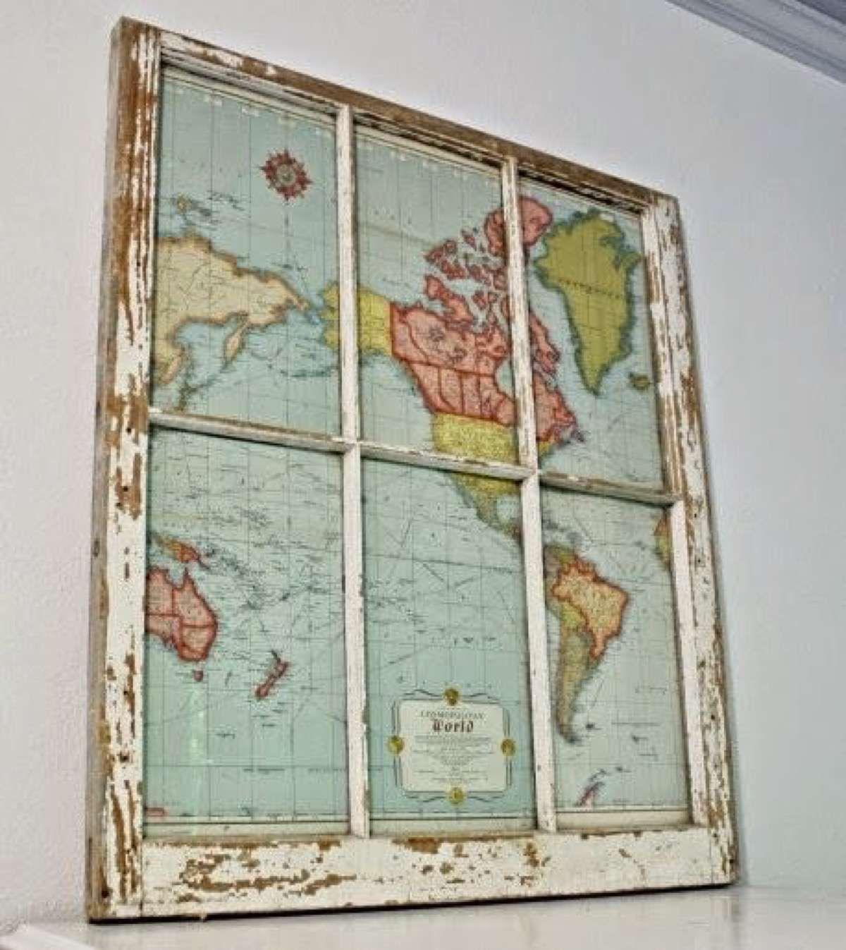 Resultado de imagen para ideas decoracion con mapas | Ideas para el ...