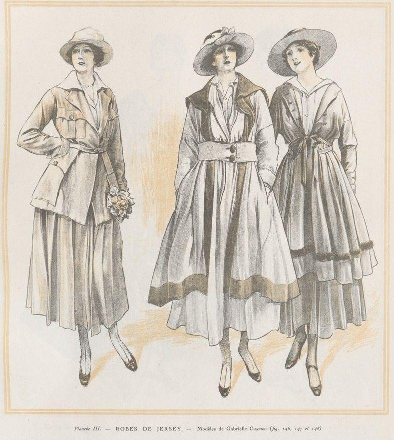 Ensemble En Jersey-Gabrielle Chanel-début Du XXe Siècle
