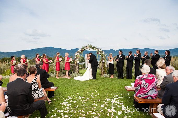 Ceremony Portrait The Mountain Top Inn Wedding Chittenden Vt Steve Holmes Photography