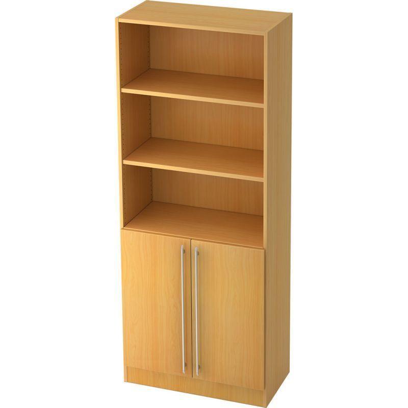 Beech Straight plastic handle Office cabinet with doors …