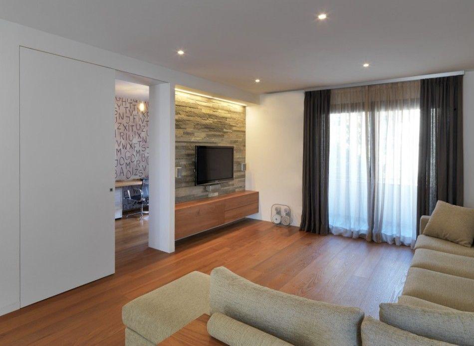 Wohnzimmer Kompletteinrichtung ~ Großräumiges wohnzimmer mit blick in den essbereich wohnzimmer