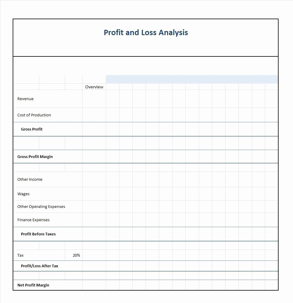 Loss and Profit forms Fresh Blank Profit and Loss ...