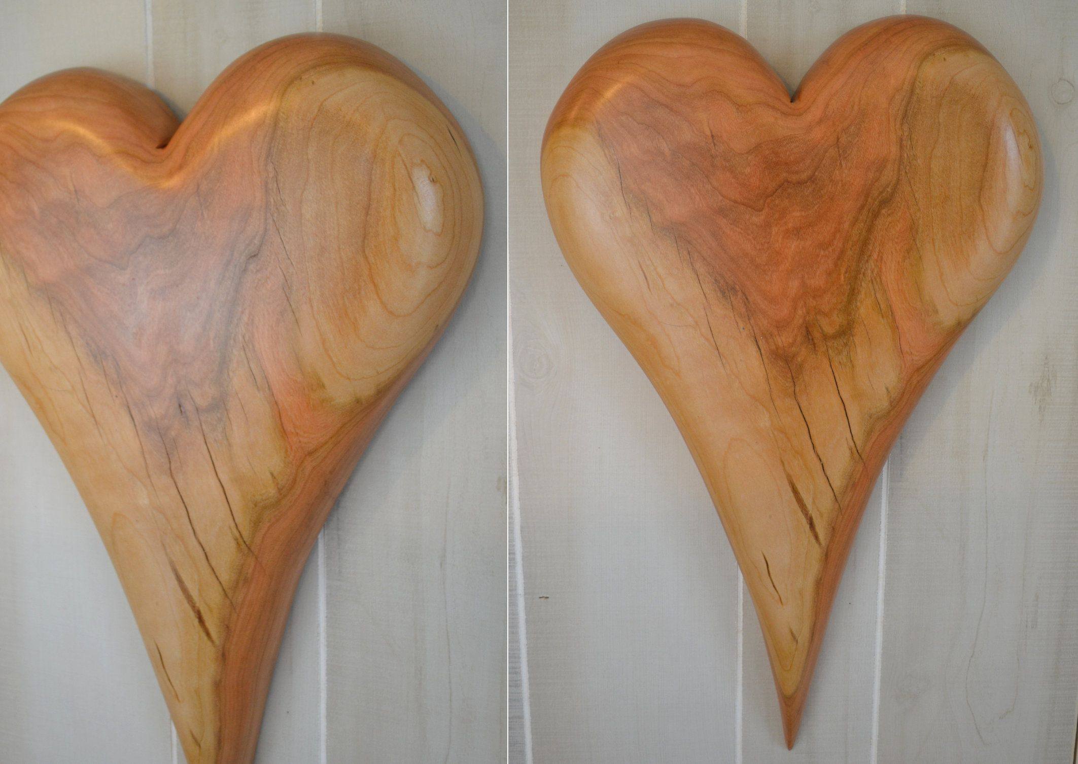 Wood Heart Decor Wall Hanging Wood Heart Carving Anniversary Wedding Valentine S Day Gift By Creation Carvings In 2020 With Images Wood Hearts Heart Decorations Heart Wall Decor