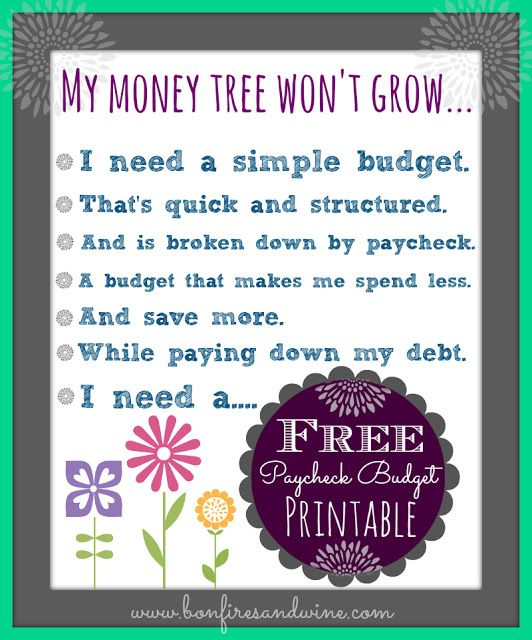 Livinu0027 Paycheck to Paycheck - Free Printable Budget Form Crafts - Free Budget Form