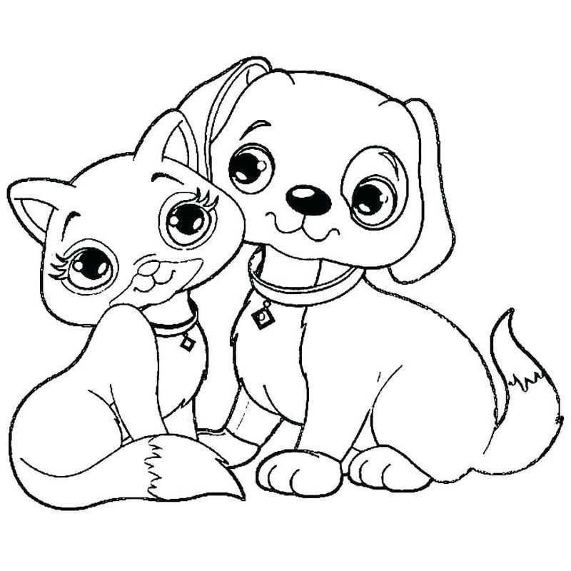 Colouring Pages Dogs And Cats In 2020 Puppy Coloring Pages Cat Coloring Page Dog Coloring Page