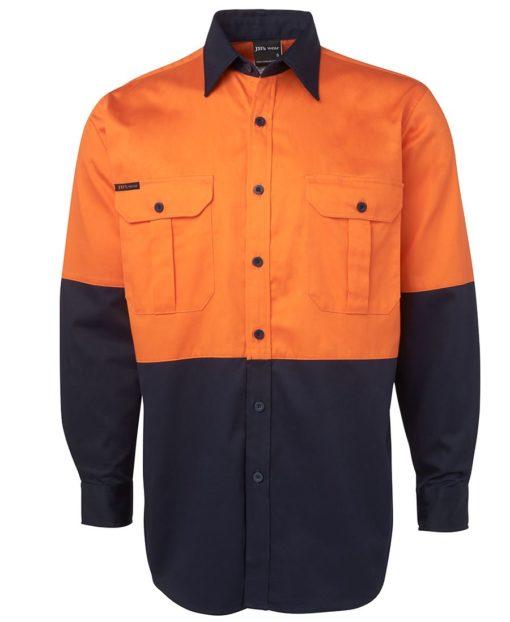 Jb S Hi Vis Long Sleeve Shirt 6hwl Long Sleeve Shirts Cotton