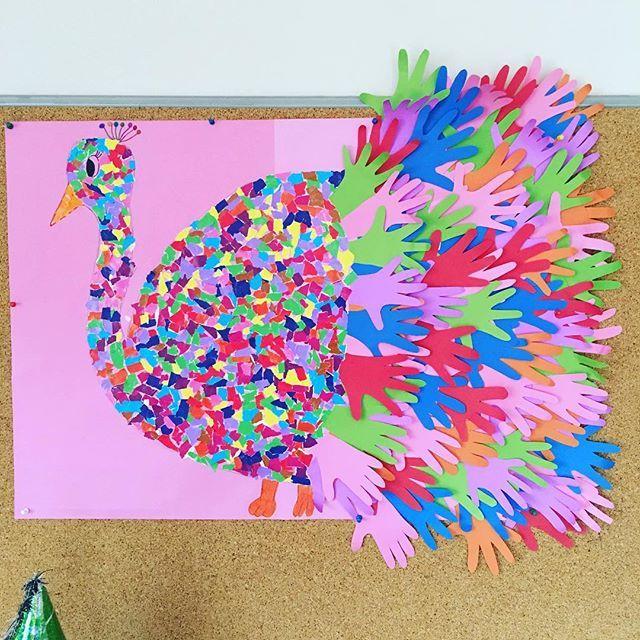 Handprint Peacock Bulletin Board Idea For Kids 1 Preschool