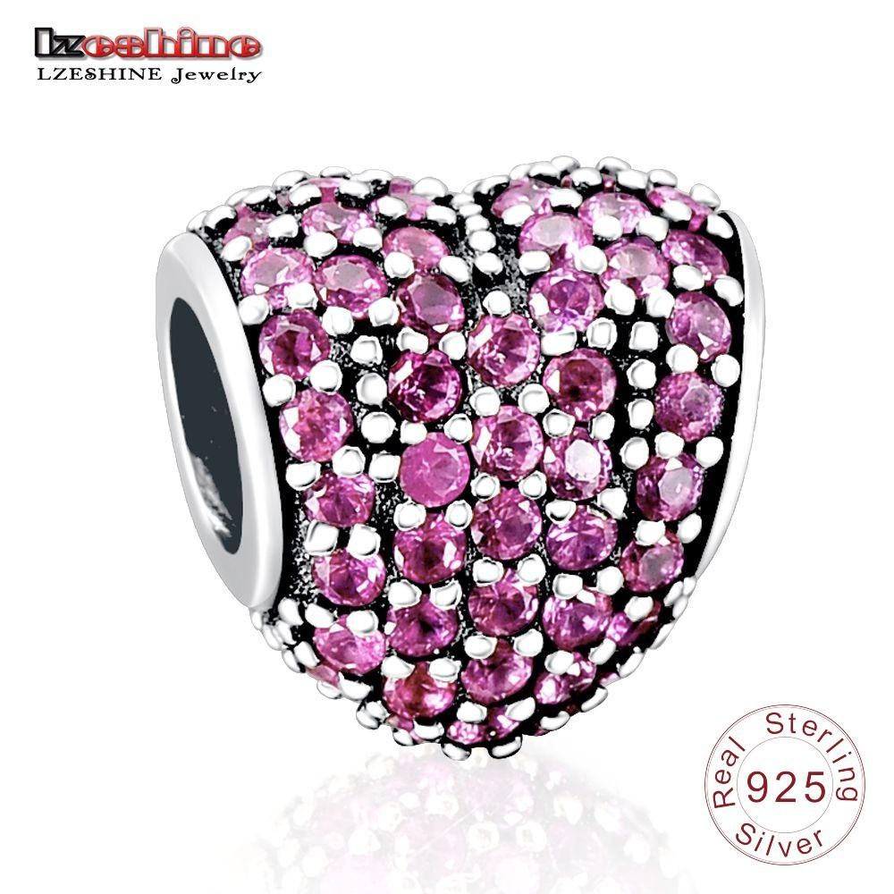 Lzeshine Charm Bead With 100% Authentic 925 Sterling Silver Beads Charms Fit Original Pandora Charm Bracelet 0014 Jewelry & Accessories