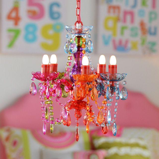 Create A Magical Space For Your Little Princess With This Multicolor Gypsy Chandelier She Ll Love