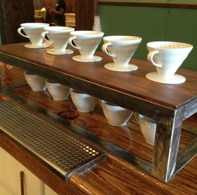 pour over coffee bar ~ reclaimed | coffee shop | pinterest