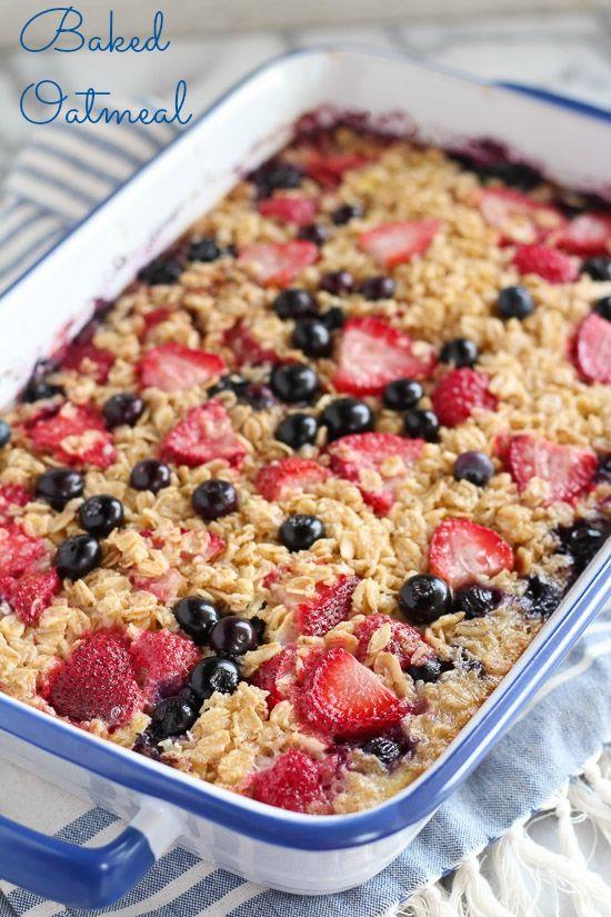 Make Ahead Baked Oatmeal For Breakfast Nutritious Breakfast Recipes Breakfast Recipes