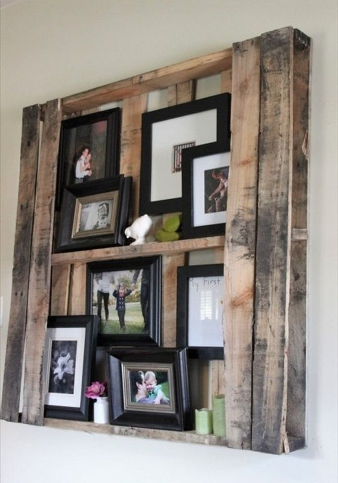 Unique and Pretty DIY Wooden Pallet Projects | Pallet picture frames ...
