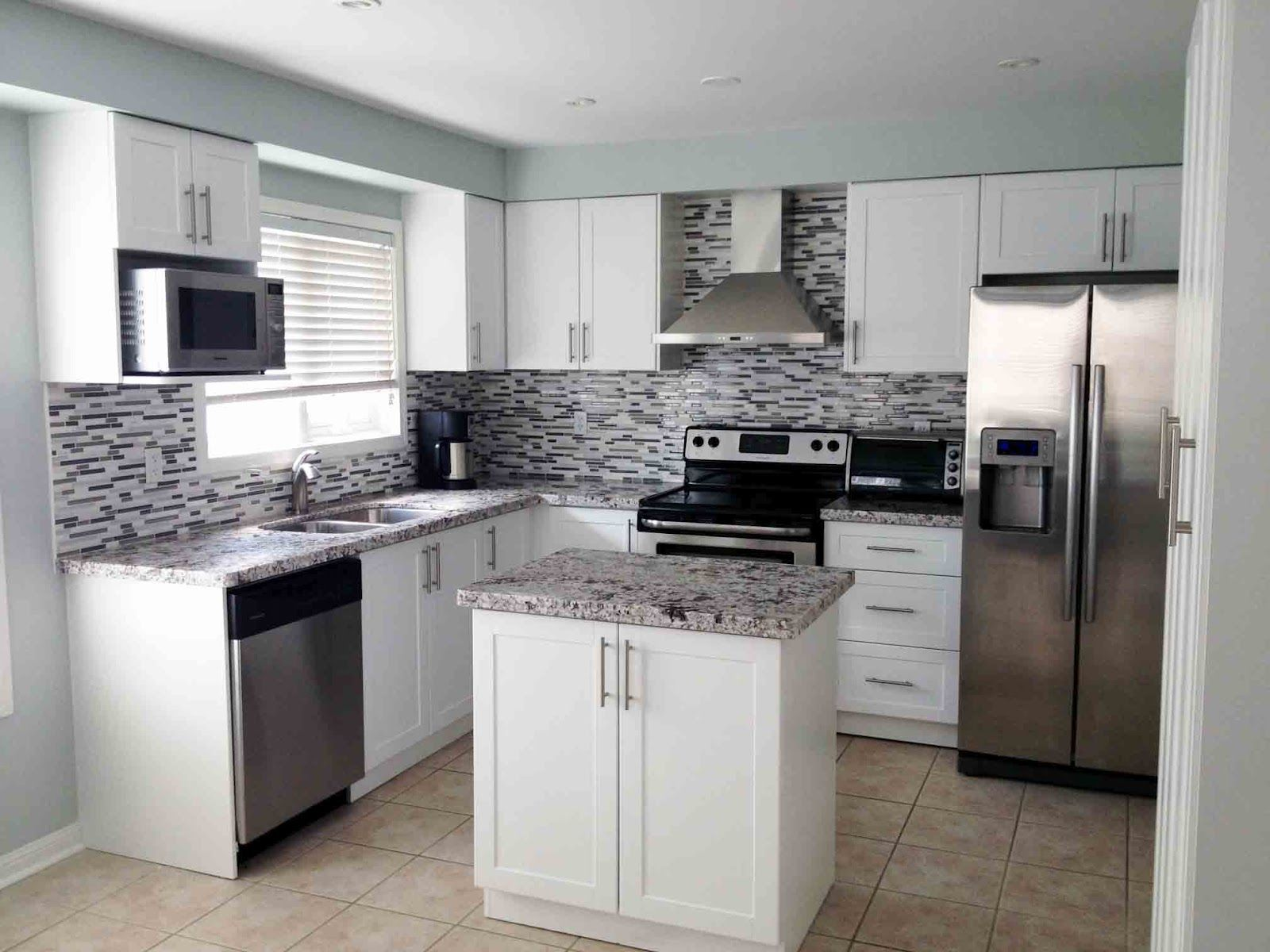 Modern White Shaker Kitchen kitchen remodel banquet | kitchen cabinets white shaker style