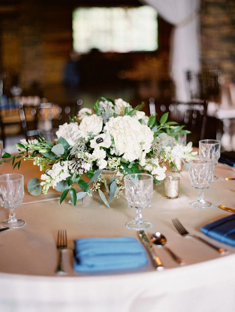 Round Table Centerpiece Idea For Your Rustic Chic Wedding Rusticchicweddingsdecorations Round Table Centerpieces Round Wedding Tables Wedding Table Settings