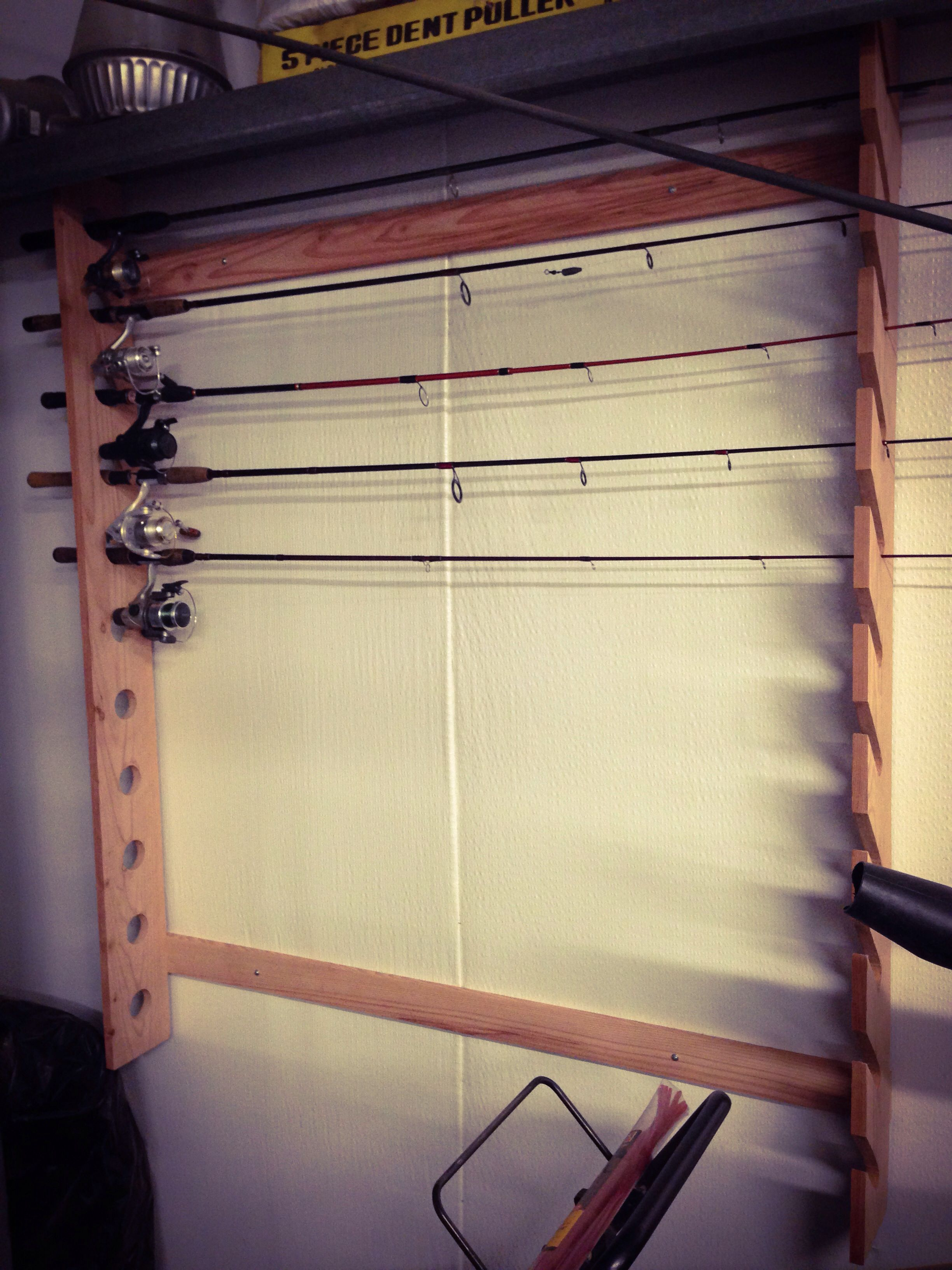Fishing Pole Holder Made For My Father In Law Today Fishing